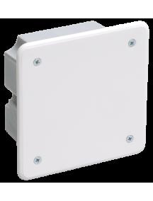 Коробка КМ41021 распаячная 92х92x45мм для полых стен (с саморезами, метал. лапки, с крышкой )