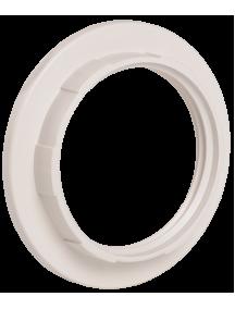 Кольцо к патрону, пластик, Е27, белый, индивидуальный пакет, IEK