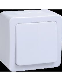 ВС20-1-0-ГПБ выкл 1кл о/у  IP54 (цвет клавиш: белый) ГЕРМЕС PLUS