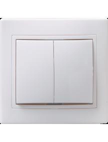 ВС10-2-0-КБ Выключатель 2кл 10А КВАРТА (белый)