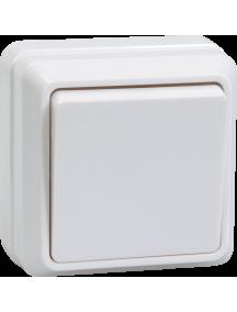 ВС20-1-0-ОБ Выключатель 1кл 10А откр.уст. ОКТАВА (белый)