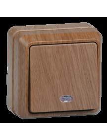 ВС20-1-1-ОД Выключатель 1кл с инд. 10А откр.уст. ОКТАВА (дуб)