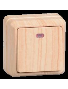 ВС20-1-1-ОС Выключатель 1кл с инд. 10А откр.уст. ОКТАВА (сосна)