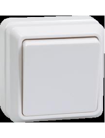 ВСк20-1-0-ОБ Выключатель 1кл кноп. 10А ОКТАВА (белый)