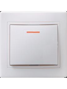 ВС10-1-1-КБ Выключатель 1кл с инд. 10А КВАРТА (белый)