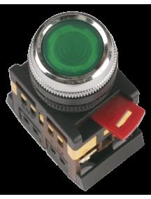 Кнопка ABLF-22 зеленый d22мм неон/240В 1з+1р ИЭК
