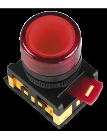 Кнопка ABLF-22 белый d22мм неон/240В 1з+1р ИЭК