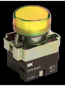 Индикатор LAY5-BU65 желтого цвета d22мм ИЭК