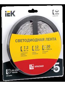 Лента LED 5м  блистер  LSR-5050R30-7,2-IP20-12V IEK