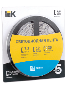 Лента LED 5м  блистер  LSR-5050B30-7,2-IP20-12V IEK