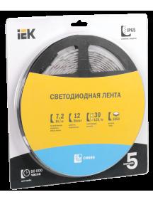 Лента LED 5м  блистер  LSR-5050B30-7,2-IP65-12V IEK
