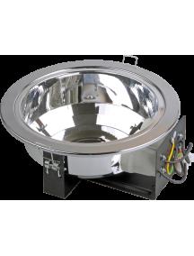 Светильник ЛВО1501 белый/круг без стекла Е27 2х26 IP20 ИЭК
