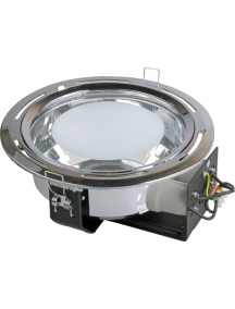 Светильник ЛВО1502 белый/круг рел мат цент Е27 2х26 IP20 ИЭК