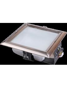 Светильник ЛВО1505 белый/квадр мат полн Е27 2х26 IP20 ИЭК
