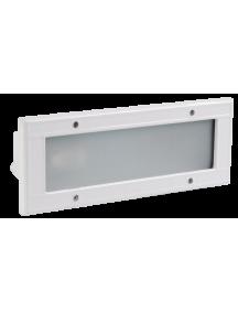 Светильник НВП3114 белый/прямоугольник без решетки  60Вт IP54 IEK