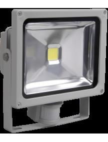 Прожектор СДО 01-10Д(детектор)светодиодный серый чип IP44 ИЭК