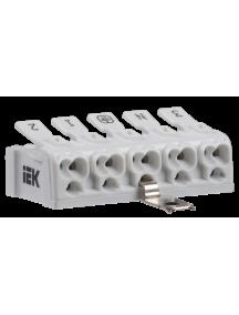 Клемма пружинная соединительная КСПз5-3L+N+PE IEK