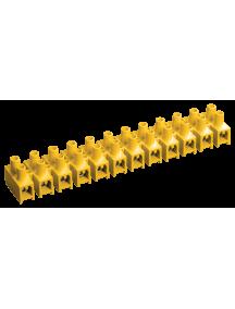 Зажим винтовой ЗВИ-10 н/г 2,5-6мм2 (2 шт/блистер) ИЭК желтые