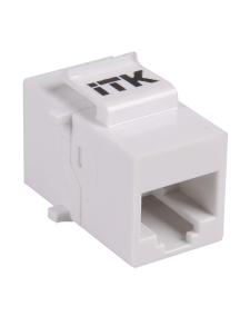 ITK Проходной адаптер кат.5E UTP, RJ45-RJ45, тип Keystone Jack