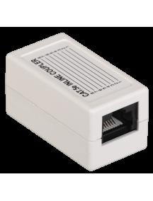 ITK Проходной адаптер кат.5E UTP, тип RJ45-RJ45, белый